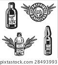 Color vintage remedy for baldness emblems 28493993