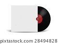 Realistic Vinyl Record with Cover Mockup. Disco 28494828