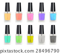 set of a real 3d colorful nail polisher bottle 28496790