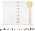 open blank page notebook 28497450