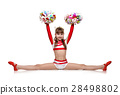 cheerleading girl sits on splits 28498802