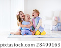 Kids playing at home, brother and sister love 28499163