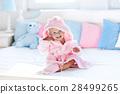 baby, bathrobe, towel 28499265
