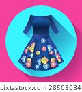 flower dress icon vector 28503084