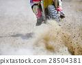 Dirt debris from a motocross race 28504381