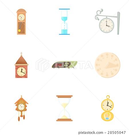 Chronometer icons set, cartoon style 28505047