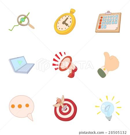 Internet setup icons set, cartoon style 28505132
