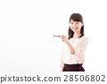 젊은 여성, 열쇠, 키 28506802