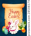 easter, scroll, vector 28508379
