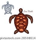 turtle icon vector 28508614