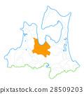 Aomori City and Aomori Prefecture Map 28509203