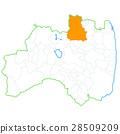 후쿠시마시와 후쿠시마 현지도 28509209