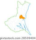Mito city and Ibaraki prefecture map 28509404