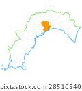 Kochi City and Kochi Prefecture Map 28510540