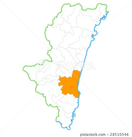 宮崎市和宮崎縣地圖 28510546