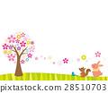 桜の木と動物 28510703