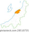 Niigata City and Niigata Prefecture Map 28510735