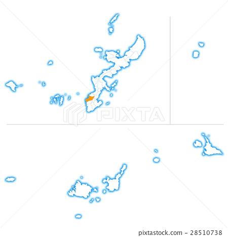 那霸市和沖繩縣地圖 28510738