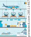 Set of public passenger transport 28511467