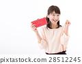 年輕的女士,錢包,膽量構成 28512245