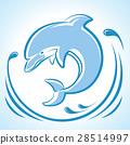 海豚 矢量 矢量图 28514997