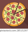 Pizza in flat style 28515297