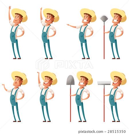 Set of farmer icons 28515350