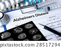 Alzheimers Disease concept , Brain degenerative  28517294