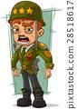 Cartoon army general in green helmet 28518617