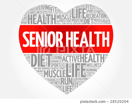 Senior health heart word cloud 28520204
