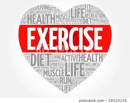 Exercise Heart Word Cloud Stock Illustration 28520216 Pixta