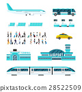 People Transport And Airport Icons Set 28522509