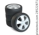Car black new wheels, isolated 28522871
