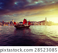 Hong Kong harbour in sunset time 28523085