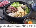 Sukiyaki in traditional Cast Iron Pot 28523918