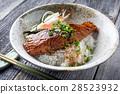 Salmon Teriyaki with Rice and Vegetable 28523932