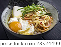 Ramen Soup with Vegetable and Egg in Bowl 28524499