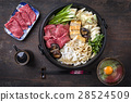 Sukiyaki in traditional Cast Iron Pot 28524509