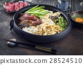 Sukiyaki in traditional Cast Iron Put 28524510