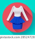 Fashionable womens clothing dress with Baska blue 28524728