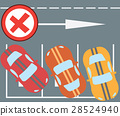 Flat vector illustration of parking instruction 28524940