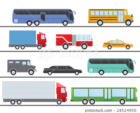 Flat vector illustration city Transport Icons 28524950