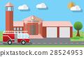 Flat vector illustration of fire station 28524953