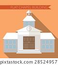 Flat vector illustration of chapel icon 28524957