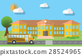 Flat vector illustration of school building 28524965