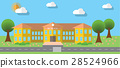 Flat vector illustration of school building 28524966