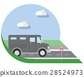 Flat vector illustration bank armored Truck 28524973