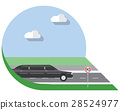 Flat vector illustration limousine, side view icon 28524977
