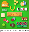 Casino and gambling icons set vector illustration 28524990