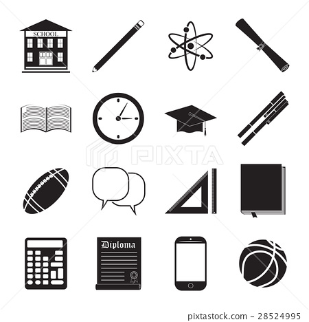 Back to School icon vector set 28524995